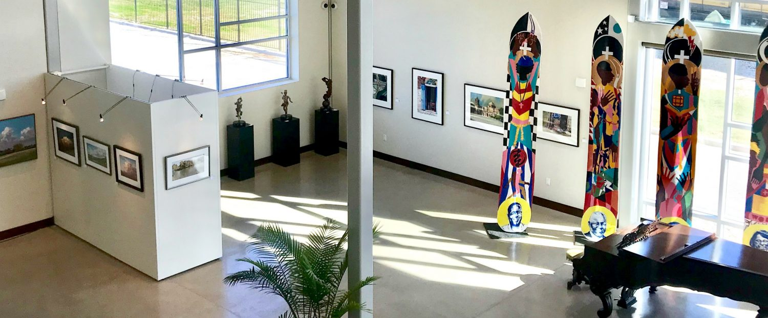 Bird's eye view of our Art of the Pines Gallery
