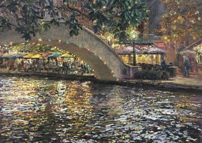 """San Antonio River Walk Bridge"" by Wanda Gamble"