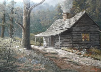 """Spring Morning at Bud's"" by Lester Sensat"
