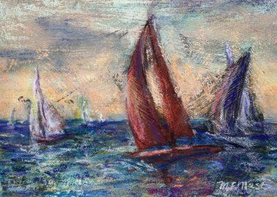 Maribel Mast, The Race, Pastel