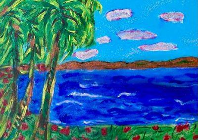 Gina Dewitt- Sparkling Waves , Acrylic