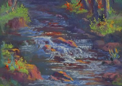 Jo Castillo- Coyote Creek, Pastel
