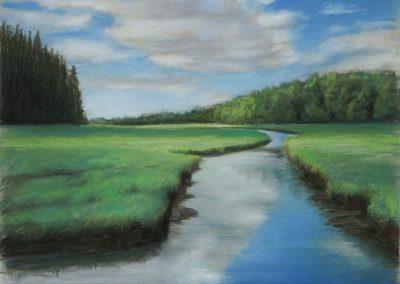 Tim Woolsey- Marsh View, Pastel