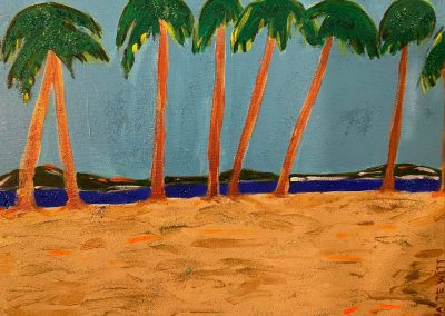 Glistening Palm Beach- Gina DeWitt, Acrylic
