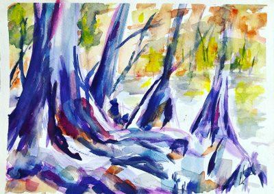 Rooted- Gwen Syzdek, Watercolor