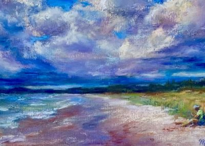 Summer at the Lake-Maribel Mast, Pastel