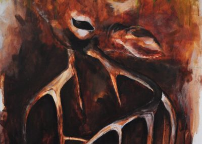 My Roots are Here- Orieta Gjyli, Acrylic, Charcoal