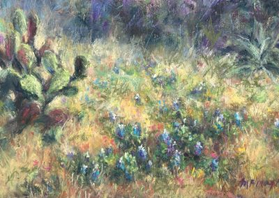 Hill Country Hillside, Pastel