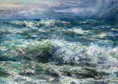 Receding Storm, Pastel