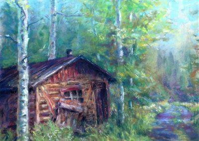 Trapper's Cabin, Pastel